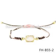Bracelet à breloques de tressée extensible personnalisé en gros