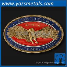 personalize moedas de metal, moeda de associação de logística americana personalizada de alta qualidade