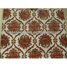 Decorativo Melamina / Grooved sobreposto polyster papel laminado contraplacado