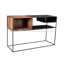 Industrial Metal with Storage High Console Table