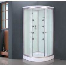 White Glass Painted Shower Cabin (ADL-8701)
