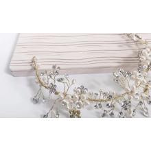 Factory wholesale classic pearl wedding handmade jewelry bridal headdress