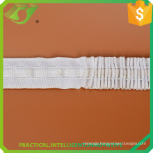 2017 Hot sell triple pleat curtain tape with rope