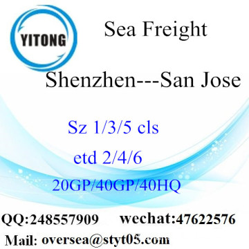 Shenzhen Port Sea Freight Shipping para San Jose