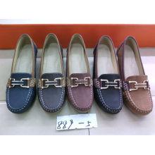 Chaussures Comfort Lady avec semelle plate TPR (SNL-10-021)