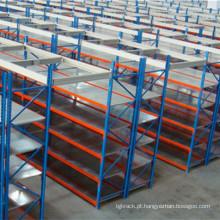 Estante de armazenamento longo com depósito em pó revestido
