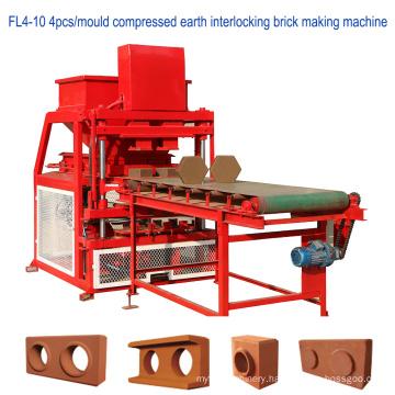 Full automatic hydraulic compressed earth interlock block (ceb) machine