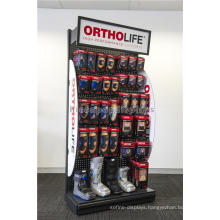 Portable Safety Security Products Exhibition Free Standing Pegaboard Display Racks For Pharmacy