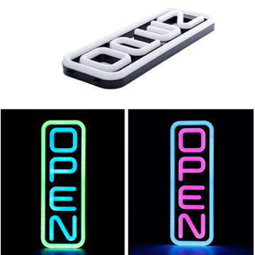20 '' RGB Vertikal Multi Color Led Open Sign