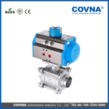 3PC pneumatic ball valve 1000WOG HK046
