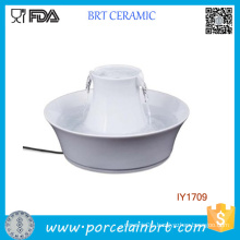 Running Water Ceramic Bowl Fill up Water Pet Accessories
