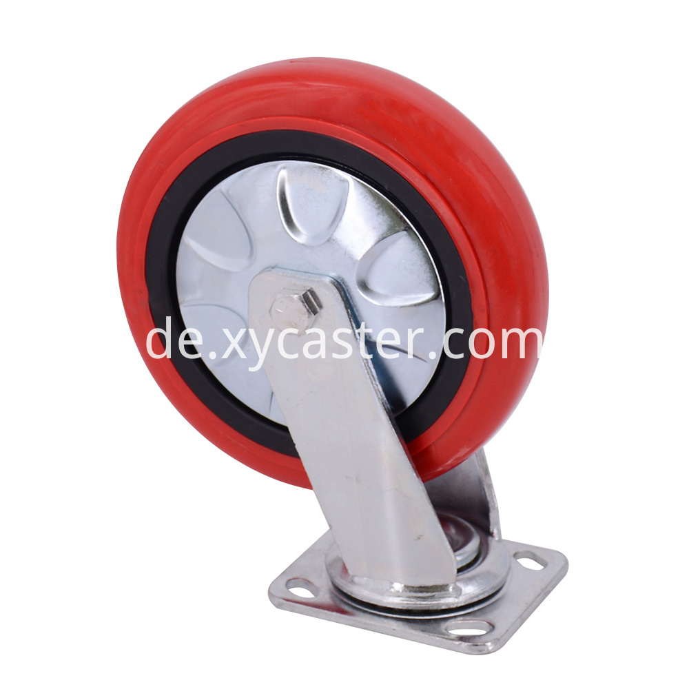 8 Inch Swivel Caster Red