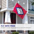 Neues Design Brise Arkansas State Polyester Flagge