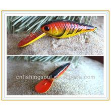 MNL024 9CM, 6G, Señuelo de la pesca Minnow Plastic Package Señuelo de la pesca Orange Fishing Lure