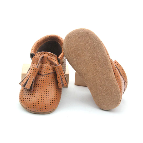 Genuine Leather Baby Soft Shoes with Cute Fringe