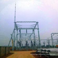 220 Kv Steel Pipe Power Transmission Substation Structure