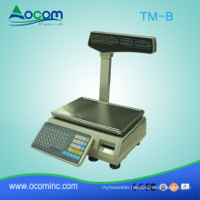 TM-B : new barcode label printing scale for weight