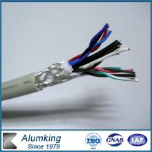 Feuillet en aluminium hydrophile pour enroulement de câble
