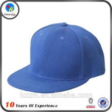 blank flat bill cotton twill snapback cap