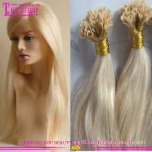 Hot sale u tip hair extensions 100% russian remy Pre-bonded hair extension U tip