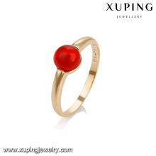 14739 Fine jewelry elegant ring girls' 18 carat gold single stone finger rings
