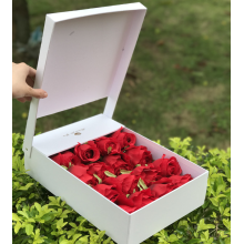 Flip-top paper flower gift box