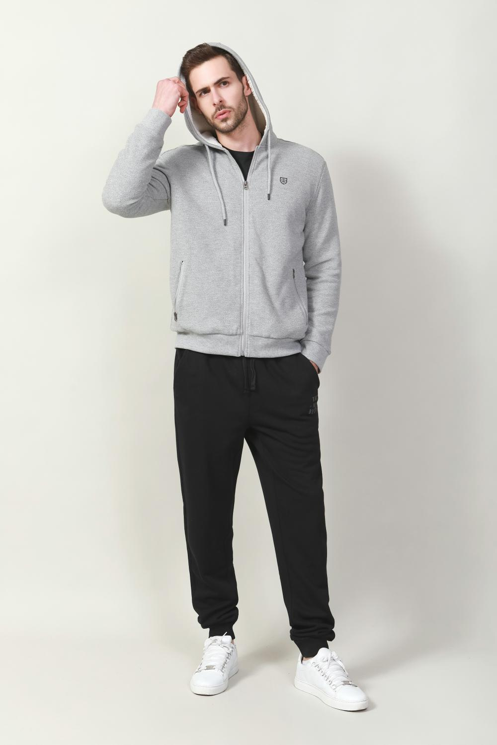 Men's knit terry fleece pants