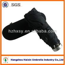 Promotion 5 pliage parapluie avec boîte en plastique/délicat parapluie de cadeau