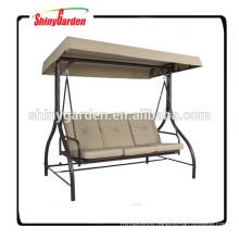 Outdoor Swing Canopy Hammock Seats 3 Patio Deck Furniture Tan