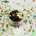 Venda quente de Poliéster Pontos Glitter Floco 1mm 2mm 3mm Misto Pó Glitter