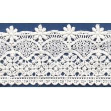 Nuevos encajes químicos de algodón tejido crochet bordes de encaje para el vestido de novia simple