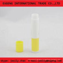slim plastic mini lip balm tube