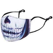 Wholesale Halloween Funny Horror Mouth Clown Printed Cotton Winter Keep Warm Party Mask For Adult