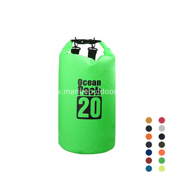 Custom LogoOutdoor  500D PVC Durable 20L Clear Backpack Dry Bag