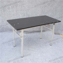 Black Melamine Conference Table with Silver Table Legs (YC-T06-03)