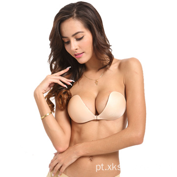 Sutiã de silicone sexy invisível push up sutiãs
