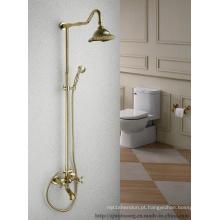 Torneiras de chuveiro do banho do banheiro da cabeça de chuveiro da forma da flor (MG-7375)