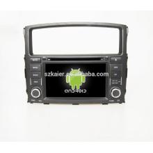 """7 """"carro dvd player, fábrica diretamente! Quad core, GPS, rádio, bluetooth para mitsubishi pajero"""