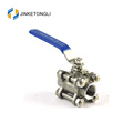 JKTL3B007 cf8m 1000 wog 3pc mengapung teflon stainless steel ball metric valves