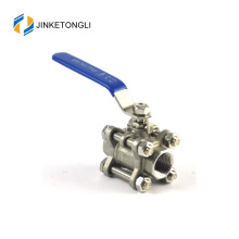 JKTL3B028 mengeluarkan 3pc air flange stainless steel 3 inch ball valve price