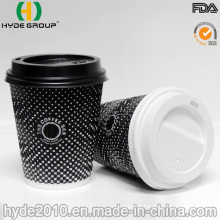 8 Oz Disposable Ripple Wall Paper Coffee Cup for Take-Away