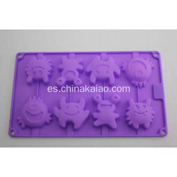 Purple Cake Jelly Mold Bandeja de silicona
