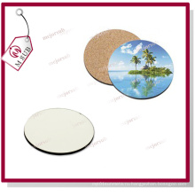 Заказной печатную сублимации древесины Coaster Круглый размер
