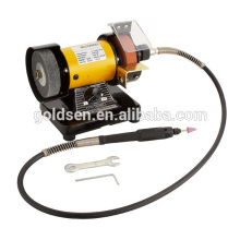 "75mm 3 ""150W eléctrica Multi Purpose Mini Bench Grinder con Flex Shaft"