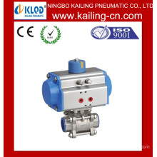 butterfly valves with pneumatic actuator / Pneumatic Stainless Steel Ball Valve