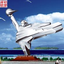 2016 Nueva escultura de acero inoxidable para la escultura de jardín