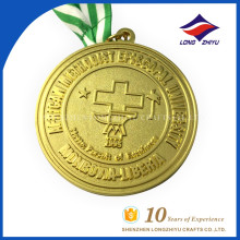Vente en gros Emblème universitaire Metal Gold Custom Medal