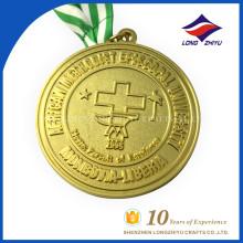 Wholesale University Emblem Metal Gold Custom Medal