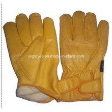 Winter Glove-Driver Glove-Winter Leather Glove-Cow Leather Work Glove-Mechanic Glove-Safety Glove