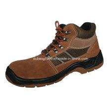 2015 couro de salto alto de aço / ferro sapatos de segurança sapatos de trabalho